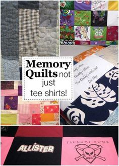Memory Quilts: Not Just for T-Shirts!