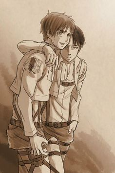 Eren: Reluctant boyfriend, or fearing your life? Who knows. Levi/Eren; Attack on Titan.