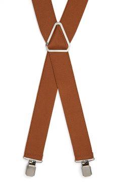 Topman Suspenders | mens suspenders | menswear | mens style | mens fashion | brown suspenders | his gifts under $100 | wantering http://www.wantering.com/mens-clothing-item/topman-suspenders/afuBw/