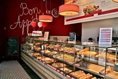 Small Bakery Designs | Cafe Interior, Bakery Design as The Appetite: Red Bakery Shop