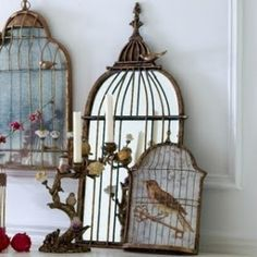 Bird in a guilded cage mirror by krista