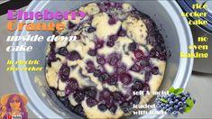 EASY RICE COOKER CAKE RECIPES: Blueberry Orange Upside Down Cake Recipe | No Oven Cake Recipes - YouTube Rice Cooker Cake, Rice Cooker Recipes, Cake Recipes, Dessert Recipes, Desserts, Blueberry Cake, Frozen Blueberries, How To Make Cake, Baked Goods