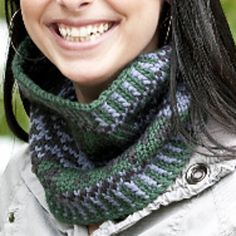 Knitting Patterns Galore - Chunky Fair Isle Cowl