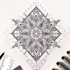 Saphirevicky on instagram - mandala snowflake tattoo design