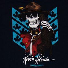 POWELL PERALTA Kevin Harris Skateboard Tee Shirt Old School Bones Brigade | eBay