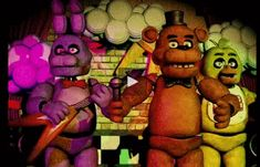 five nights at freddy's speedart | The animated characters performing onstage.