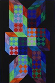 Victor Vasarely, Ympo, 1970. Szépművészeti Múzeum - Gyujtemenyi kereső angol - Artwork