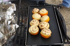 Camping Style Orange Cinnamon Rolls by rvcoutdoors #Cinnamon_Rolls #Orange #Camping