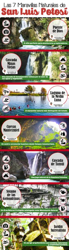 Si de maravillas naturales se trata, #SanLuisPotosi es uno de los destinos con más riquezas.¡Visítalo! http://www.bestday.com.mx/San_Luis_Potosi/Atracciones/ #Infografia #Infographic