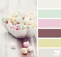 Minty pastels color pallette