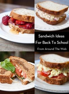 Clean Eating Thursday Recipe Linkup - Back To School Sandwich Recipes