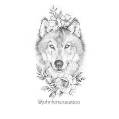 Wolf Tattoo Design, Sketch Tattoo Design, Tattoo Sketches, Cute Tattoos, Beautiful Tattoos, Body Art Tattoos, Owl Tattoos, Fish Tattoos, Wolf Tattoos For Women