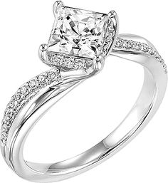 "ArtCarved ""Stella"" Diamond Engagement Ring AC 31-V304"
