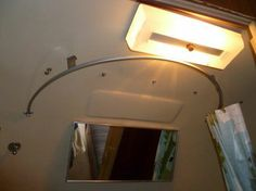 universal ceiling mounted round shower curtain rod could we do something like this in the