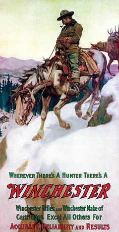 Rider with Pack Horse Poster ~ by Phillip R Goodwin