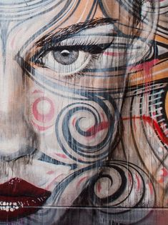 RONE in Sydney, Australia - Street ART - woman's face
