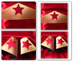 WONDER WOMAN crown and cuff set Headband by originalsupercapes, $16.50