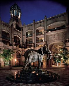 Shawu elephant statue at the Palace Hotel, South Africa Sun City South Africa, Sun City Resort, North West Province, Places To Travel, Places To Visit, Namibia, Holiday Resort, Out Of Africa, Exotic Places