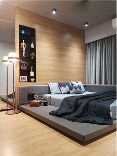 27 Superb Platform Bed Zinus 14 Inch With Headboard Small Bedroom Interior, Room Design Bedroom, Modern Bedroom Design, Contemporary Bedroom, Home Decor Bedroom, Low Platform Bed, Platform Bed Designs, Platform Bedroom, Modern Platform Bed