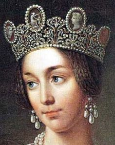 The Cameo Tiara: Josephine of Leuchtenberg brought the tiara to Sweden through her marriage to the future King Oscar I of Sweden and Norway, and it has stayed there ever since.