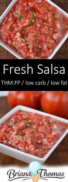 Fresh Salsa - THM:FP, low carb, low fat, sugar free, gluten/egg/dairy/nut free