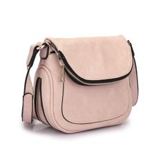 MMK collection Crossbody Bag ~Messenger Purse(2830)~ Crossbody Bag for Women~multiple pocket Messenger handbag. (2830 Pink)