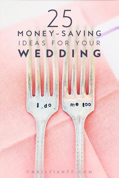 25 amazing wedding ideas to help you actually save money on your wedding day!    Pinned 6800 times!