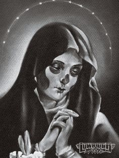 Day Of The Dead Art Praying Woman
