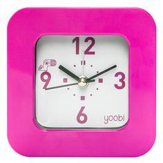 Square Clock - Pink