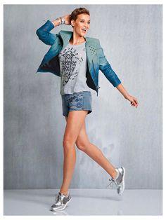 #Lederjacke #Shirt #Shorts