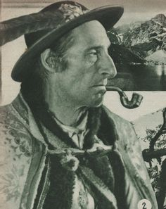 """Man from Zakopane (region of Podhale), image published in a tourist booklet """"Visitez la Pologne"""", Alpine Village, My Heritage, Vintage Pictures, Old Photos, Lithuania, Photography, Painting, Faces, Image"""