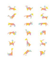 tangram animales facil - Buscar con Google