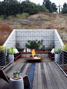 outdoor fireplace #deck