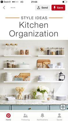 Country Kitchen, Kitchen Organization, Bathroom Medicine Cabinet, Kitchen Inspiration, House, Home Decor, Decoration Home, Kitchen Storage, Room Decor