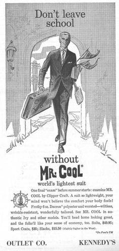 Mr. Cool. 1950s USA
