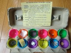 12 days until Easter: The Meaning of Easter explained through a dozen plastic eggs. kinimimi
