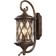 Barrington Gate Two-Light Outdoor Wall Light featuring polyvore, home, outdoors, outdoor lighting, bronze, dual light, outside yard lights, elk lighting and outdoor yard lights
