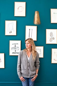 IDEAT: Paris, City guide I Young-Ah Kim, photographer - corridor 2019 Turquoise Accent Walls, Teal Accents, Home Accents, Blue Wall Colors, Accent Wall Colors, Murs Turquoise, Guest Bedroom Office, Square Photos, Blue Walls