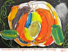Pumpkins designed by little pumpkins