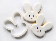 easter bunnies cookies with our cookie cutter