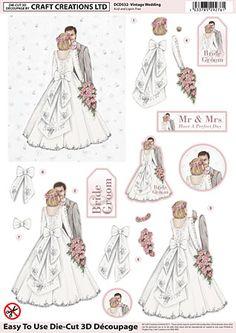 Craft Creations A4 die cut decoupage - Vintage Wedding