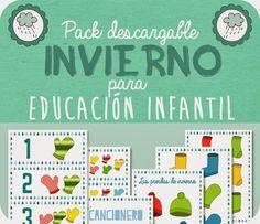 Descargables: Pack Invierno II para educación Infantil, lógica matemática