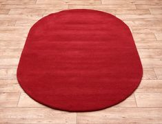 Home Comfort Plain Scarlet Oval Wool Rug Oval Rugs, Circle Rug, Home Comforts, Red Rugs, Scarlet, Colours, Pure Products, Shapes, Wool