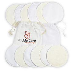 Kiddo Care Pads d allaitement en bambou biologique lavable -12 BLACK PACK  (6 paires) – Coussinets d allaitement réutilisables b900291c75c