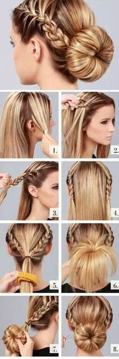 Braids Either Side And Updo In Low Hairstyle Tutorial
