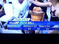 Forget quidditch, katie bell is a diver now.