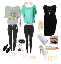 """""""Morning ~ Night"""" by tinsley-flak ❤ liked on Polyvore"""