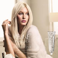 COMING SOON: KEUNE ULTIMATE BLONDES: 3001 ULTRA ASH BLONDE This mild, oil-based paste lifts up to 6 levels without bleach! Includes 2 cool pigment capsules, which neutralize yellow pigments in the hair.