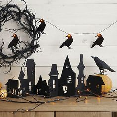 Spooky Twig 10' LED Halloween Garland | Crate and Barrel
