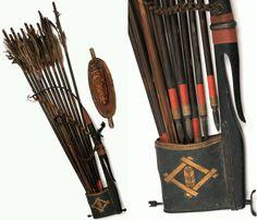 Shiko yebira, a type of quiver with ya (arrows).